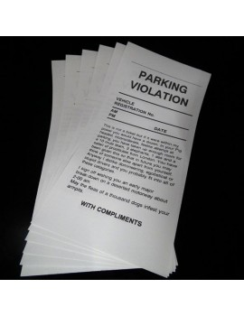 Parking Tickets (Nasty) x6