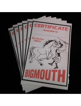 Big Mouth Certificates x5