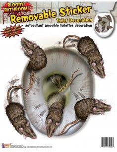 Bloody Rat Toilet Seat Cover